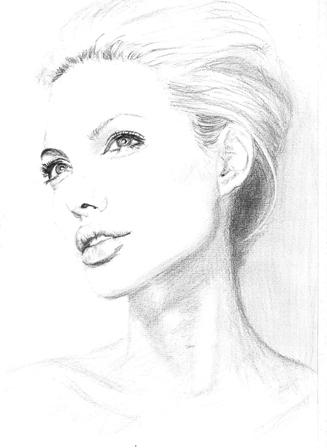Angelina Jolie by Leelee