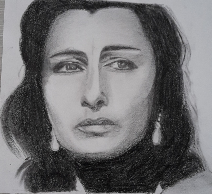 Favoloso Portrait of Anna Magnani by Fema on Stars Portraits FO52
