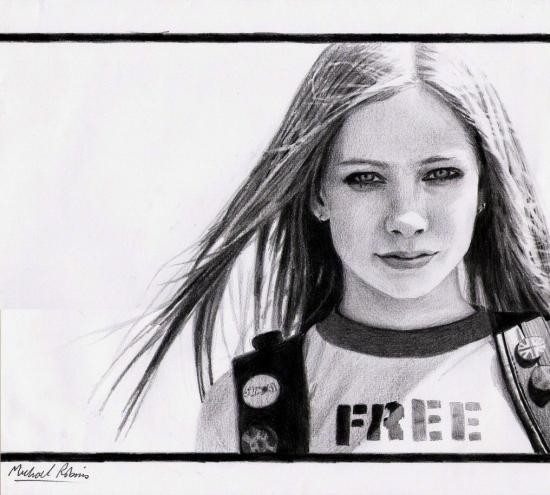 Avril Lavigne by Photocopier
