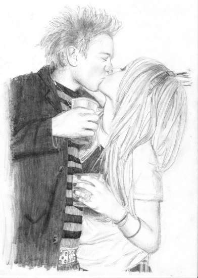 Deryck Whibley, Avril Lavigne by xxxxtina