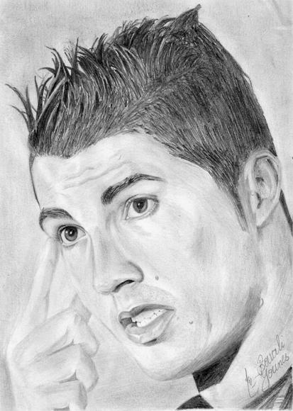Comment dessiner cristiano ronaldo - Portrait dessin facile ...