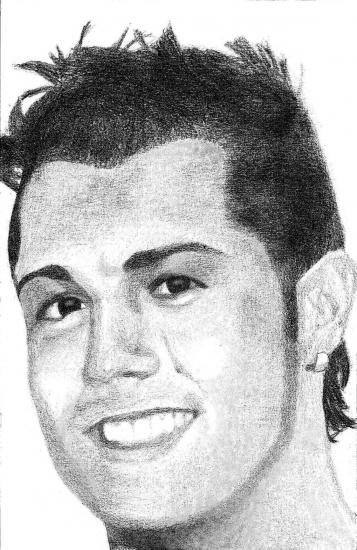 Coloriage De Cristiano Ronaldo A Imprimer