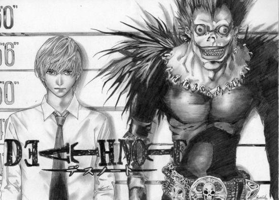Dibujos Para Colorear De Death Note: Retratos De Death Note Por 50verdes