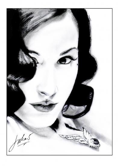 Dita Von Teese Drawing