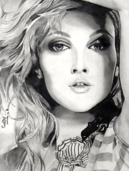 Drew Barrymore Art Picture