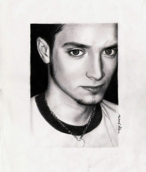 elijah wood girlfriend. Elijah Wood by Photocopier
