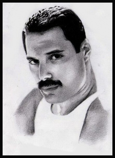 Freddie Mercury by Photocopier