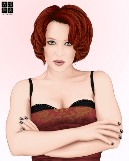 gillian anderson pictures. Gillian Anderson by FMY