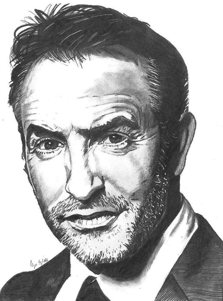 Portrait of jean dujardin by patrick on stars portraits for Dujardin patrick