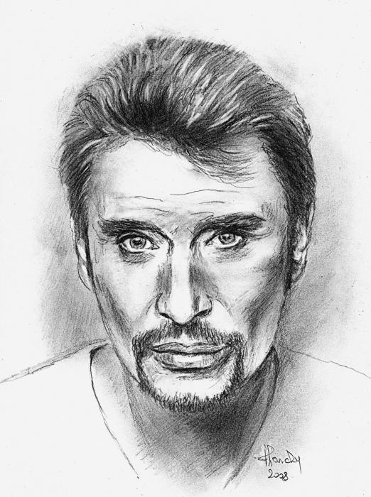 Comment dessiner johnny hallyday - Portrait dessin facile ...