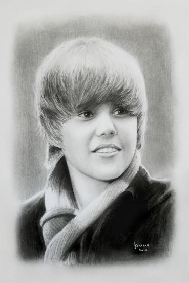 Pointill coloriage - Justin bieber dessin ...