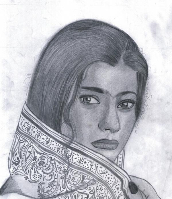 Drawings and Paintings Kajol-1-by-bobbydar01@gmail.com