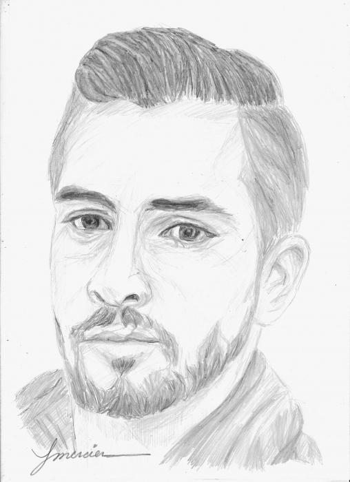 Portrait de kendji girac par ymercier sur stars portraits - Portrait dessin facile ...