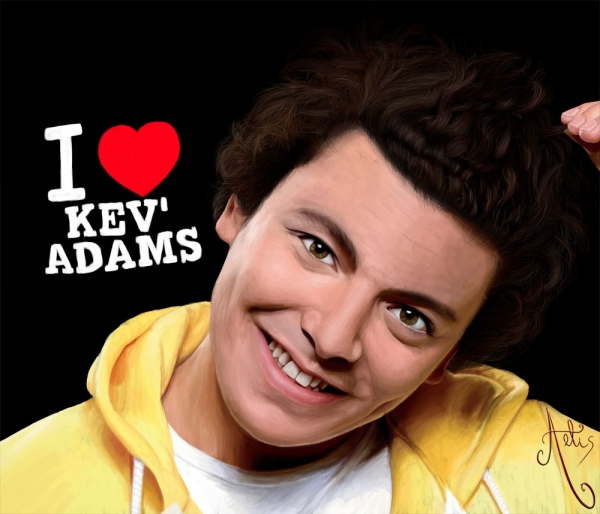 Stars Portraits - Portrait of Kev Adams by Aelis