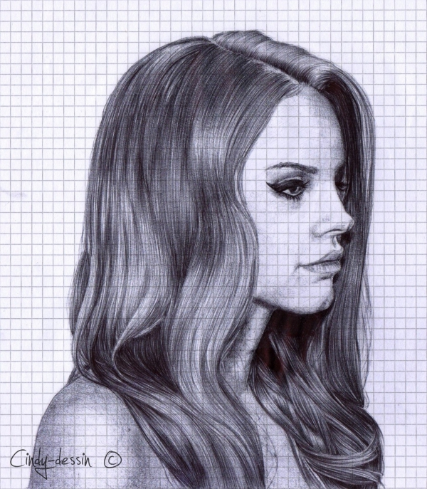portrait de lana del rey par cindy dessin sur stars portraits 1. Black Bedroom Furniture Sets. Home Design Ideas
