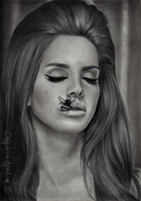 Connu Portrait of Lana Del Rey by cindy-dessin on Stars Portraits CW04