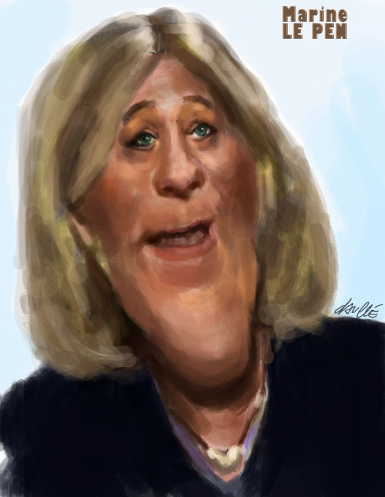 Stars Portraits - Portrait of MARINE LE PEN by daulle - 1