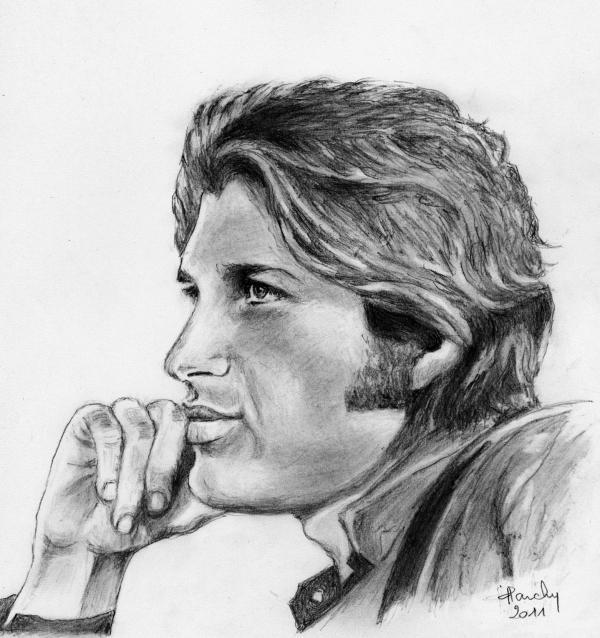 Portrait de mike brant par claireff1 sur stars portraits - Portrait dessin facile ...