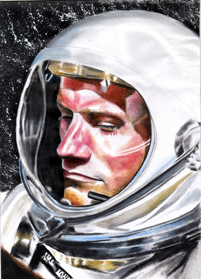 Portrait of Neil Armstrong by Annika on Stars Portraits