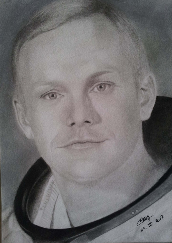 Portrait of Neil Armstrong by Cessydu31 on Stars Portraits