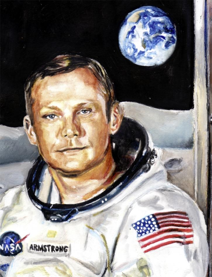 Portrait de Neil Armstrong par Kerstin sur Stars Portraits