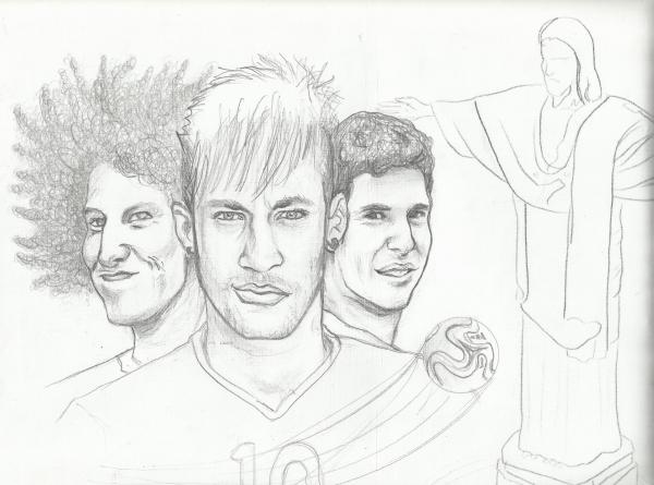 neymar da silva santos sketch coloring page