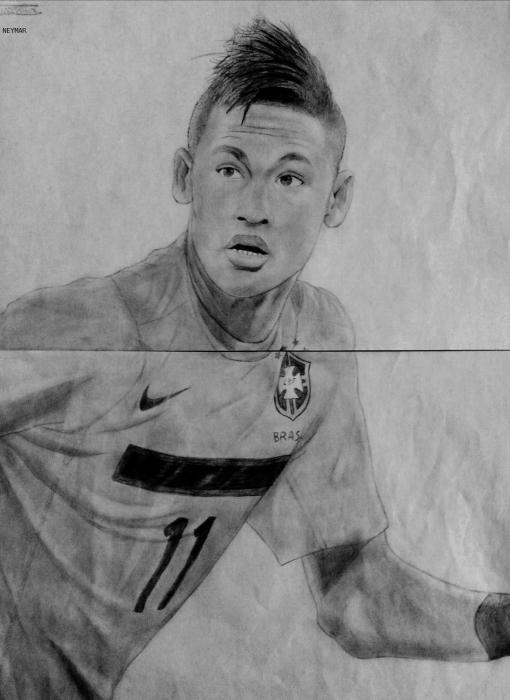 Dibujos de neymar a lapiz de perfil  Imagui