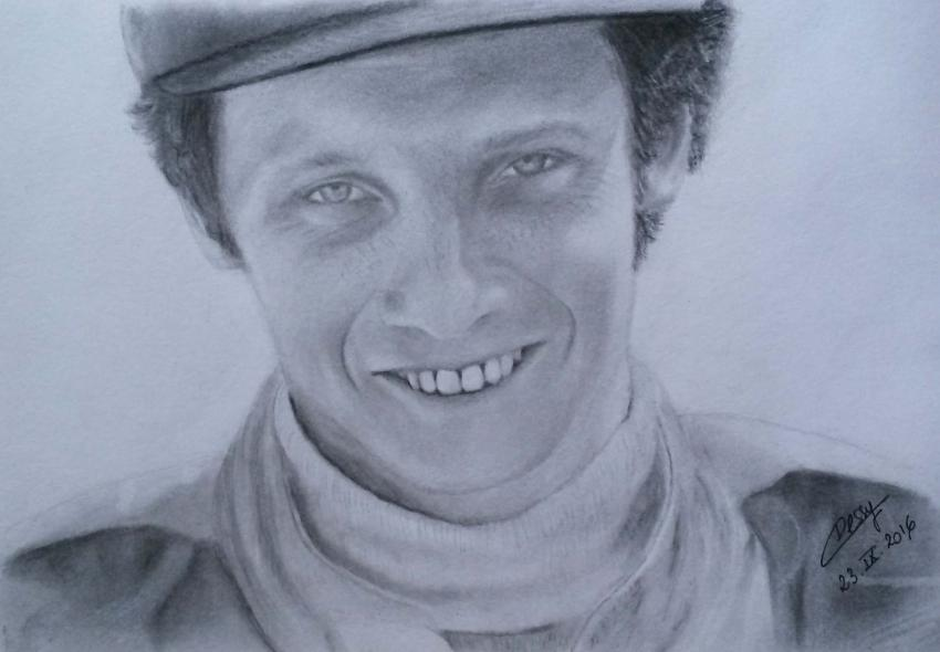portrait of niki lauda by cessydu31 on stars portraits. Black Bedroom Furniture Sets. Home Design Ideas