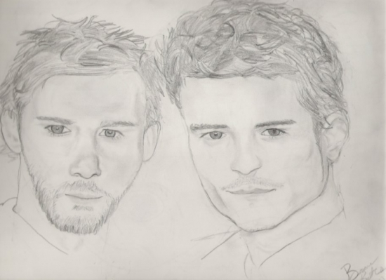 Orlando Bloom, Dominic Monaghan by theonlytime