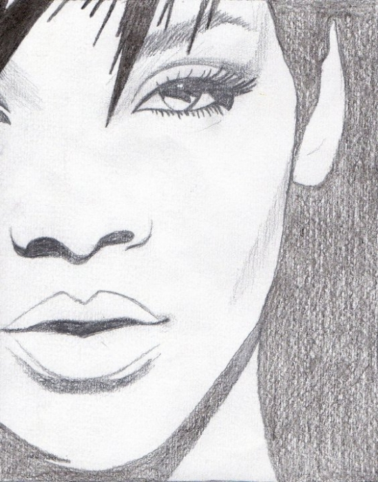 Portrait of rihanna by isherwood66 on stars portraits - Portrait dessin facile ...