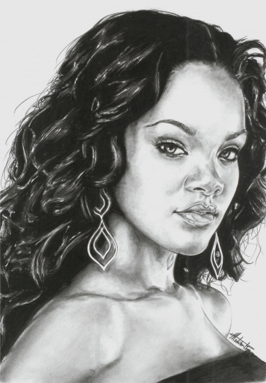Rihanna by maddrawings