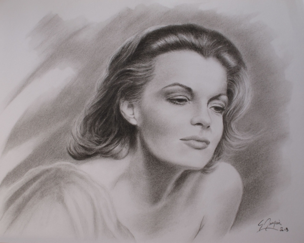 Extrêmement Portrait of Romy Schneider by magerar on Stars Portraits - 2 KS61