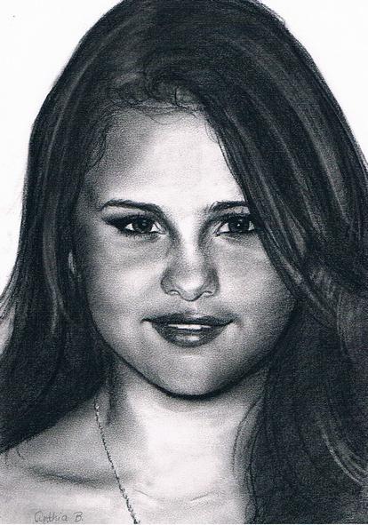 Portrait of selena gomez by cynthiab on stars portraits - Selena gomez dessin ...