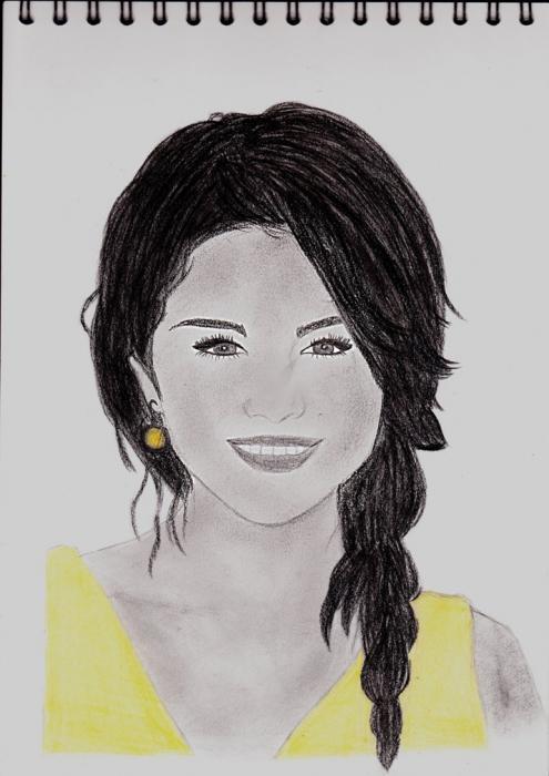 Portrait de selena gomez par marylou sur stars portraits - Selena gomez dessin ...