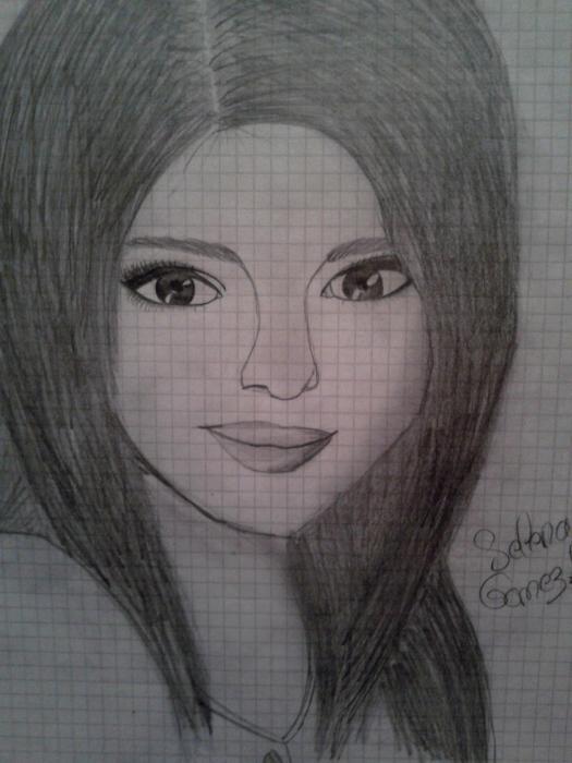 My creation mon dessin - Selena gomez dessin ...