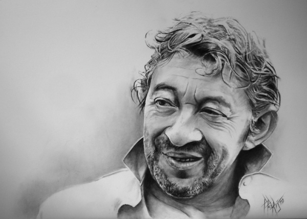 stars portraits portrait of serge gainsbourg by patounet. Black Bedroom Furniture Sets. Home Design Ideas