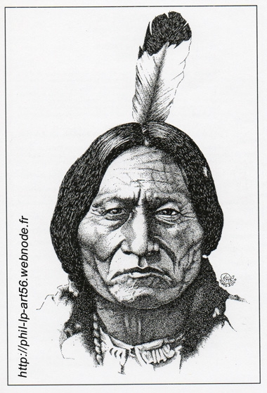 portrait of sitting bull by phillp on stars portraits