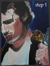 Painting Jeff Buckley Step 1