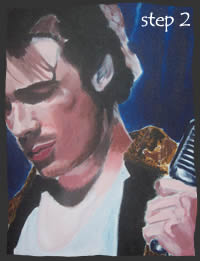 Painting Jeff Buckley Step 2