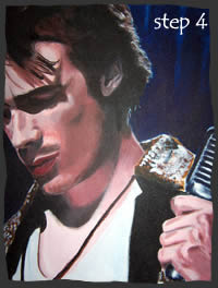 Painting Jeff Buckley Step 4
