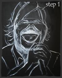 Painting Jack Black Step 1