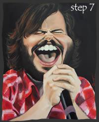 Painting Jack Black Step 7
