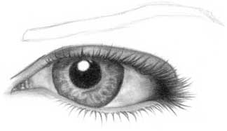 Drawing eye - step 17