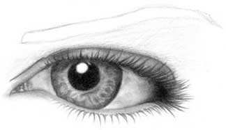 Drawing eye - step 18
