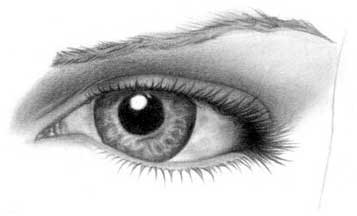 Drawing eye - step 22