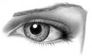 Drawing eye - step 23
