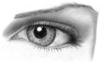 Drawing eye - step 24