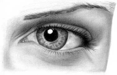 Drawing eye - step 28
