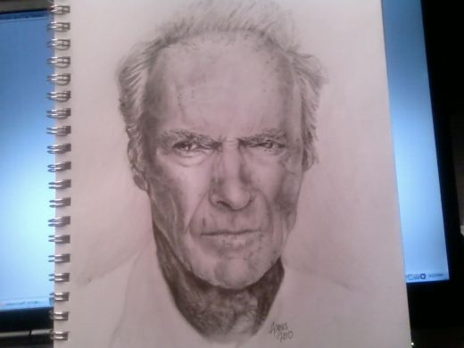 Clint Eastwood drawing tutorial