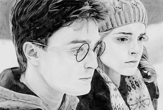 Portrait Harry Potter - étape 8